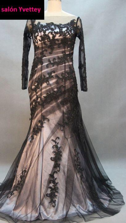 plesové šaty černé s dlouhými rukávy společenské Lady - plesové šaty ... 0cbbfed40c